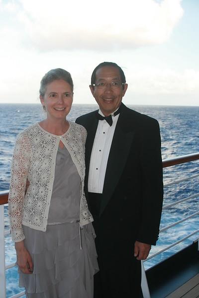 Sheri & Harvey on the deck before formal dinner