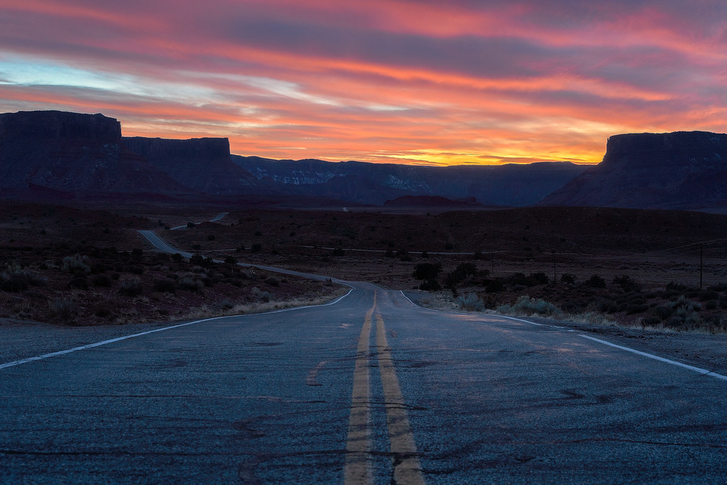 sunsets from utah route 128