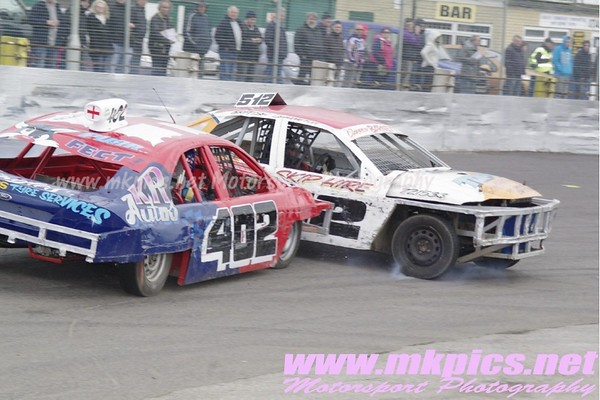 2L Saloon Stockcars, Northampton International Raceway, 6 April 2012