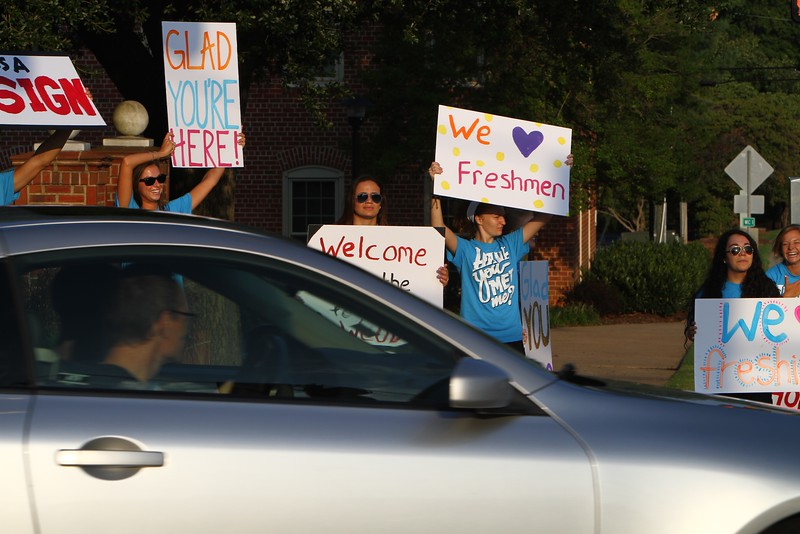 Freshmen Orientation and Move-in, Fall 2015.