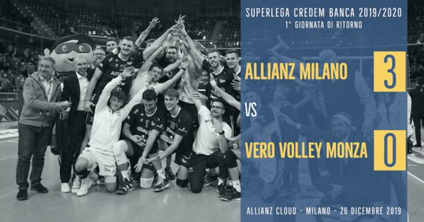 1^ Rit: Allianz Milano - Vero Volley Monza