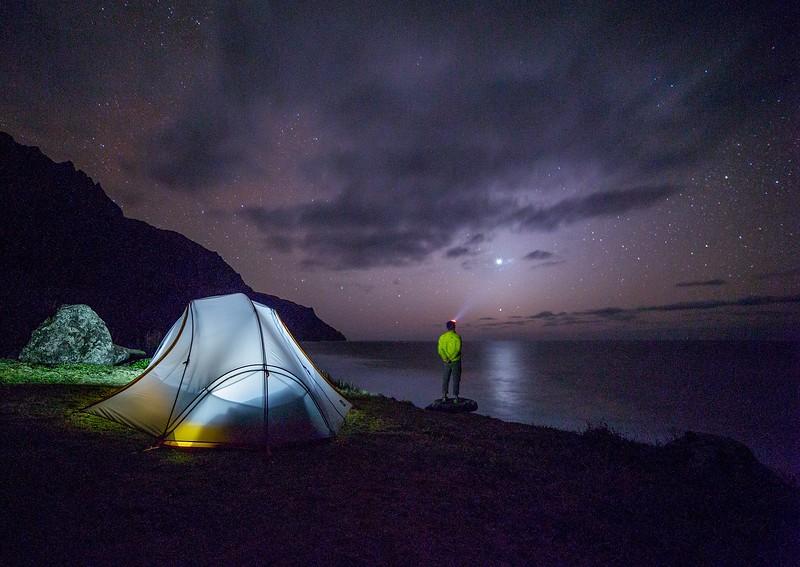 Camping night shot - best headlamp