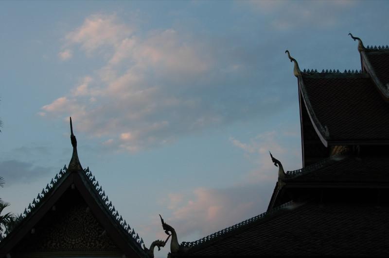 Temples at Dusk - Luang Prabang, Laos