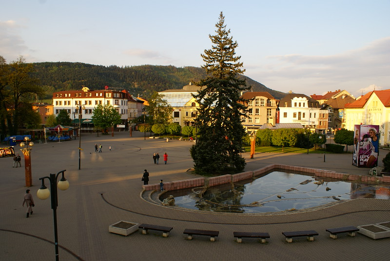 We spent our last night in a mid-sized town in western Slovakia called Zilema. It has a nice pedestrian area. It's quiet.