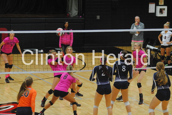 Clinton volleyball vs. Pleasant Valley — Oct. 13, 2015