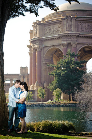 Angela and Josiah - Engagement Photography, Palace of Fine Arts, San Francisco, California
