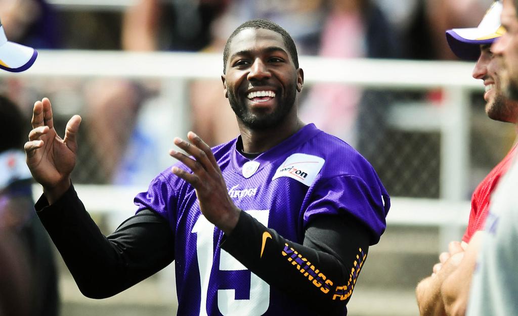 . Minnesota Vikings wide receiver Greg Jennings. (Pioneer Press: Ben Garvin)