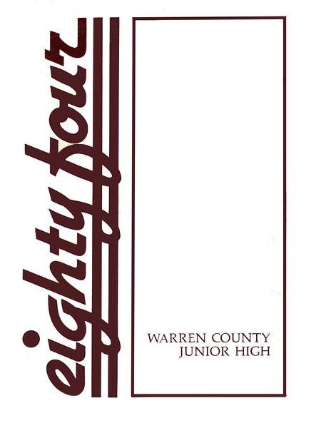 Warren County Junior High 1984