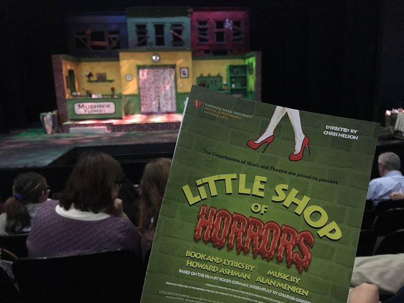 """Megan Hartman captured the set of GWU's production of """"Little Shop of Horrors"""" before the final performance on Sunday."""