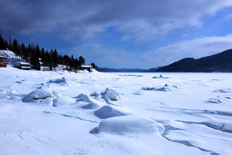Snow shoeing at parc national du fjord du Saguenay