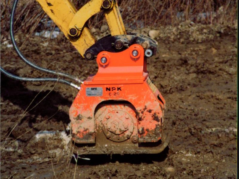 NPK C2D compactor on Cat mini excavator (14).jpg