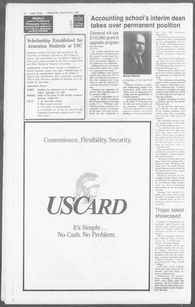 Daily Trojan, Vol. 110, No. 2, September 06, 1989