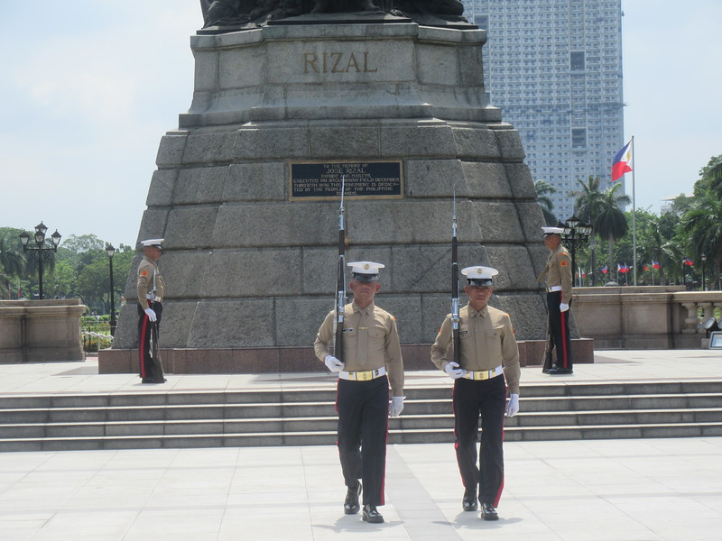 008_Manila. Rizal Park and Rizal Monument. Changing of the Military Guards. Part 3 of 3.JPG