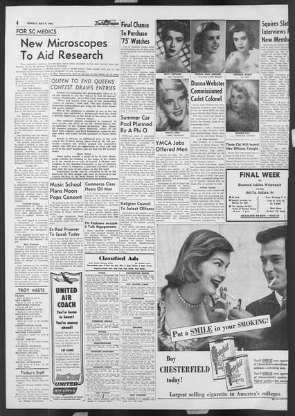 Daily Trojan, Vol. 46, No. 131, May 09, 1955