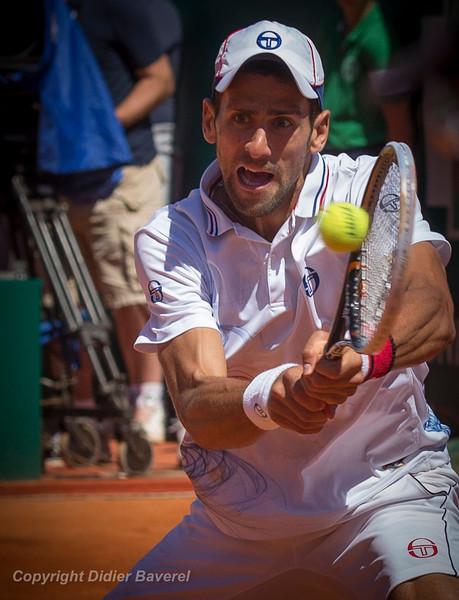 *legende* Masters Rolex Series, demi-finales. Novak Djokovic