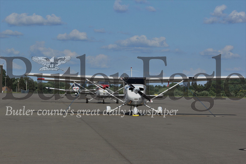 Airplanes sit on the runway at Butler County Airport. Seb Foltz/Butler Eagle