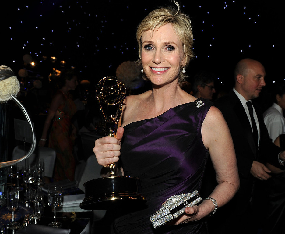 . Actress Jane Lynch attends the 62nd Annual Primetime Emmy Awards Governors Ball held at the Los Angeles Convention Center on August 29, 2010 in Los Angeles, California.  (Photo by Kevin Winter/Getty Images)