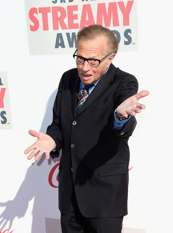 . TV personality Larry King attends the 3rd Annual Streamy Awards at Hollywood Palladium on February 17, 2013 in Hollywood, California.  (Photo by Frederick M. Brown/Getty Images)