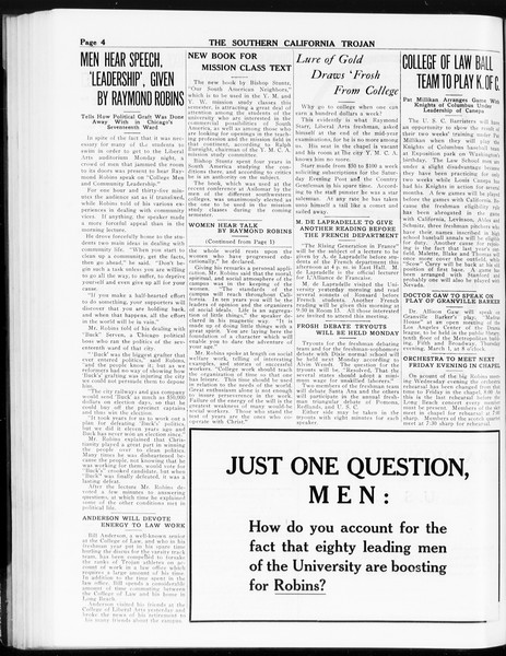 The Southern California Trojan, Vol. 8, No. 71, February 21, 1917
