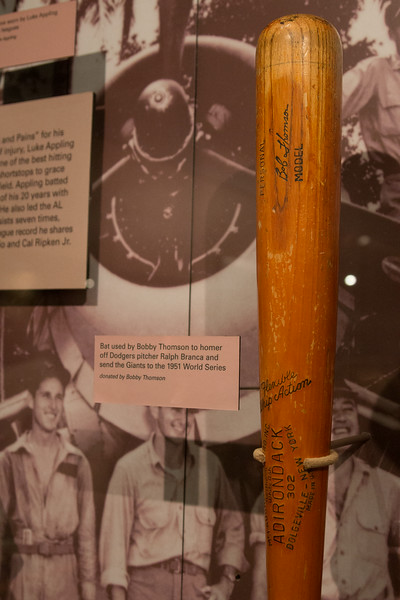"The baseball bat from ""The Shot Heard 'Round the World"" (Bobby Thompson's 1951 home run) -- A trip to the Baseball Hall of Fame, Cooperstown, NY, June 2014"