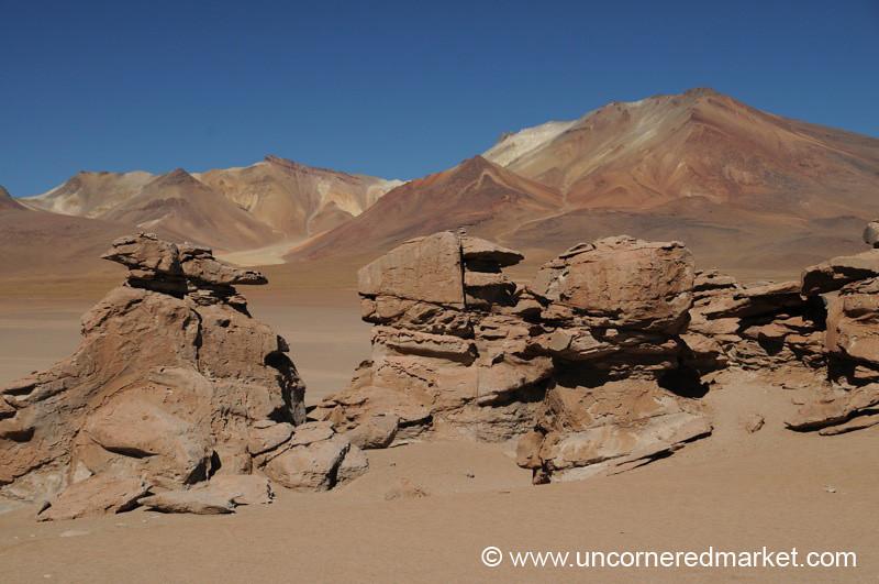 Red Rocks, Blue Sky - Salar Tour, Bolivia