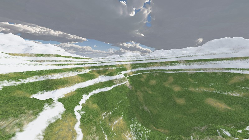 Ice Mountain 8 : A Computer Generated Image from Daily Animation
