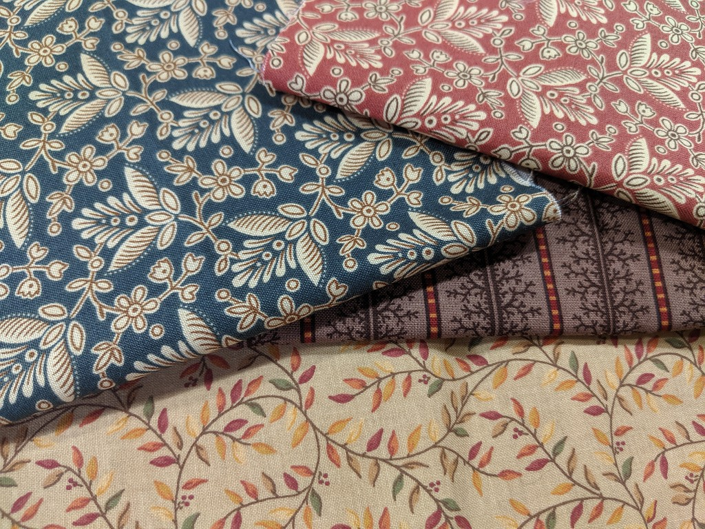 Fabrics chosen for Tea Leaf