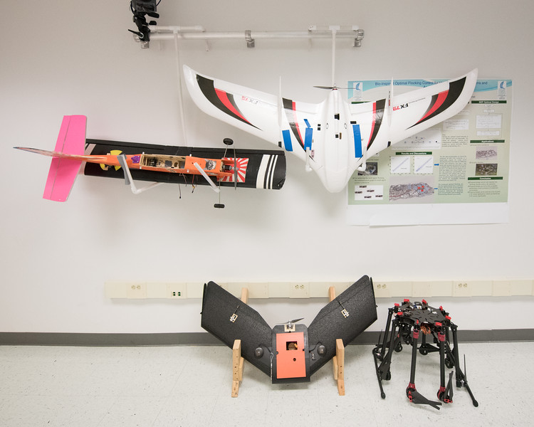 Unmanned Air Systems Lab in TAMU-CC's Engineering Building.