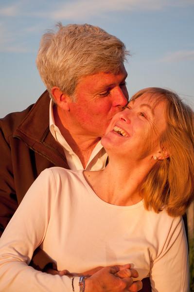 Dennis and Sandra at sunset.