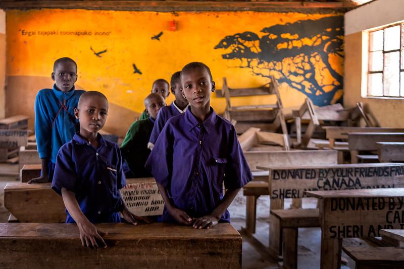 Maasai Students in the Yellow Classroom - Tanzania