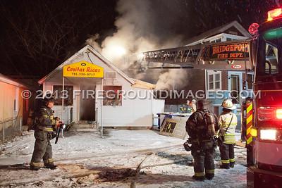 Center St. Ext. Fire (Bridgeport, CT) 1/25/13