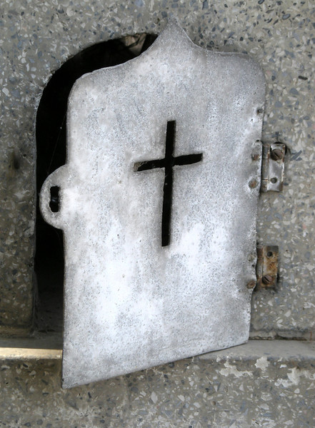 gravestone offering door