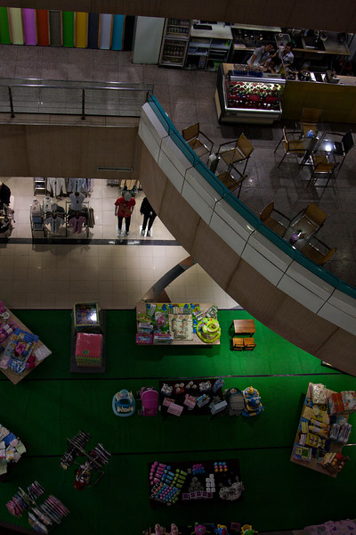 We explored the nearby mall - it was several floors of culture and interest.