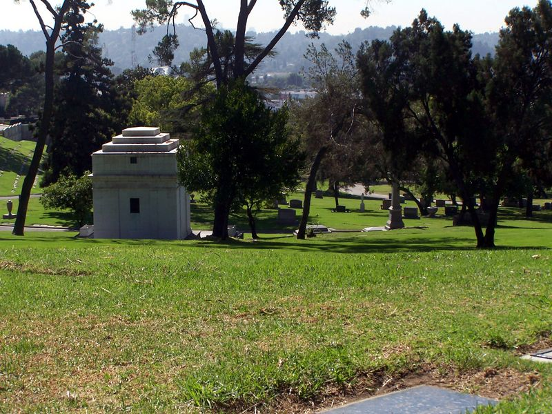 Monday: Inside the cemetery.