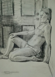 """""""In Isolation"""" (charcoal) by Patricia Corcoran"""