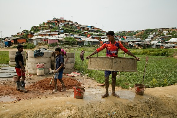 WASH-Making Toilet Ring Slab in Rohingya Camp--sujanmap