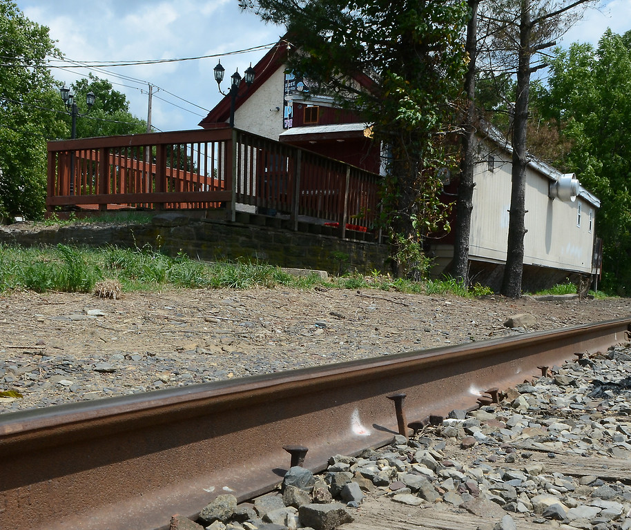 . The old Souderton Freight Station building that was Big\'s Place.  Tuesday July 22,2014.Photo by Mark C Psoras/The Reporter