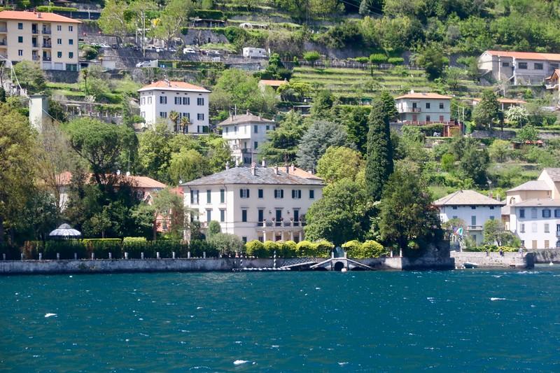 Clooney's Villa  (Villa Oleandra) in the town of Laglio, Lake Como
