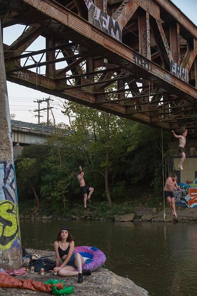 Swim Team leap
