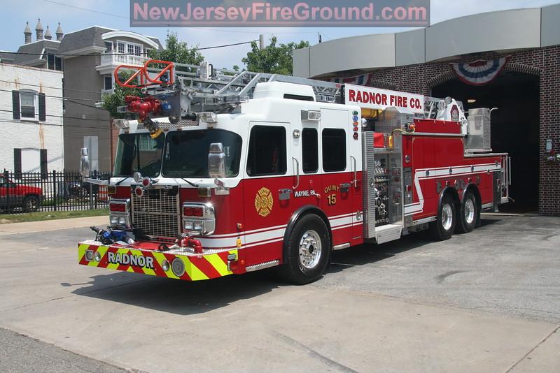 Radnor Fire Company - Wayne, Delaware County , PA - Quint 15