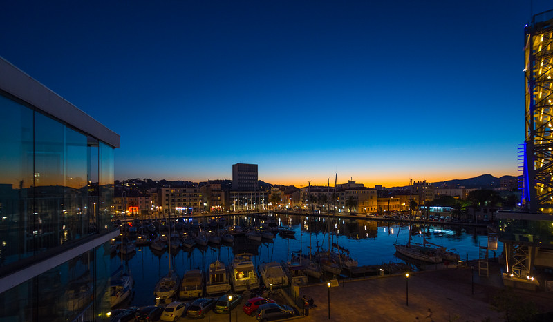 Toulon Harbour at Night, France