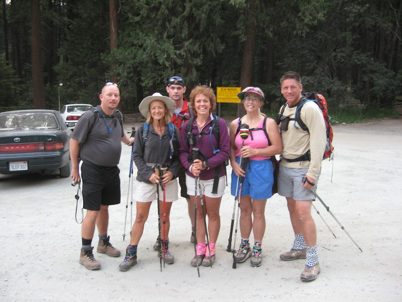 Nathan, Karen, Jim, Kathy, Alice and Tom at the trailhead