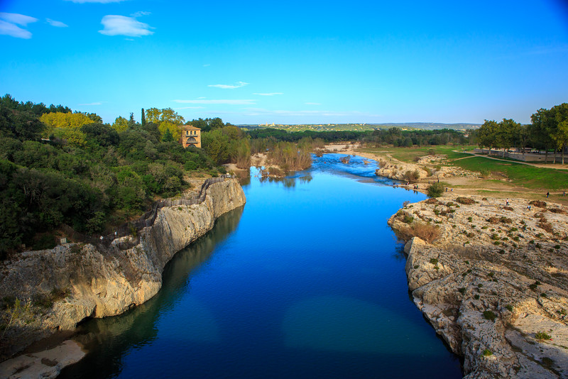 Downstream from Pont du Gard