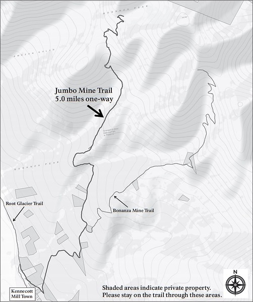 Wrangell-St. Elias National Park and Preserve (Kennecott Area - Jumbo Mine Trail)