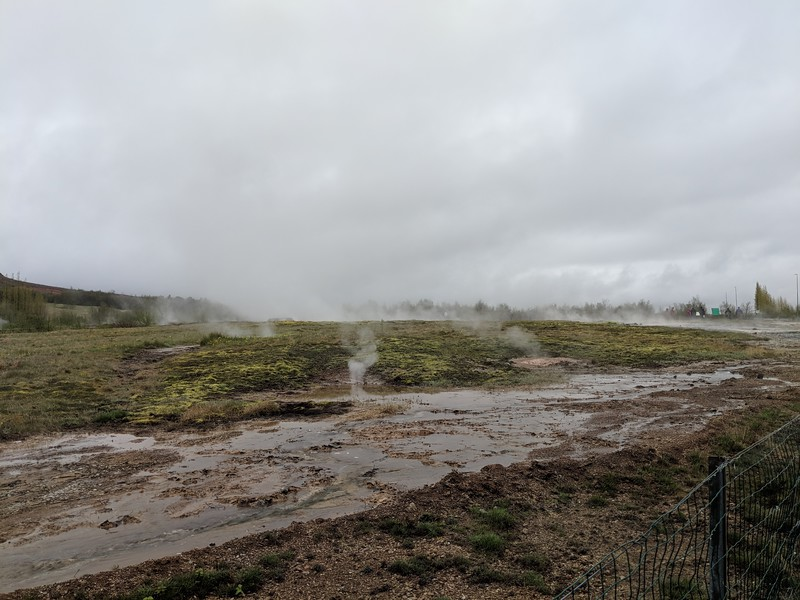 Hot springs at Geysir