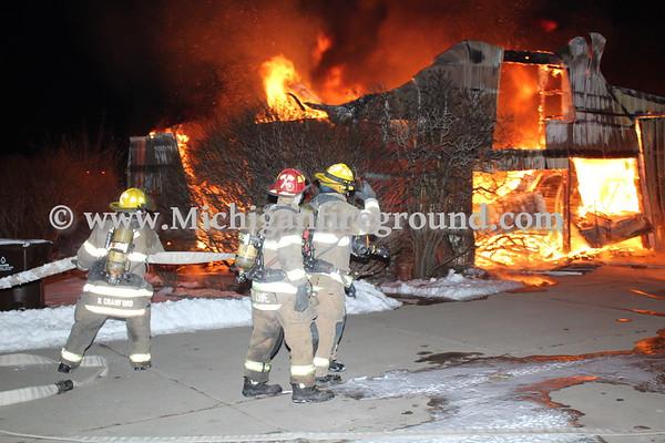 2/7/18 - Mason barn fire, 2330 Eden Rd