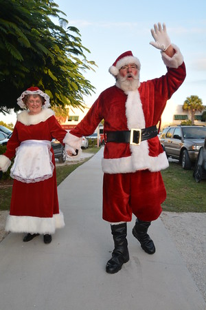 Light Up Key Largo 2016, Santa & Mrs Claus