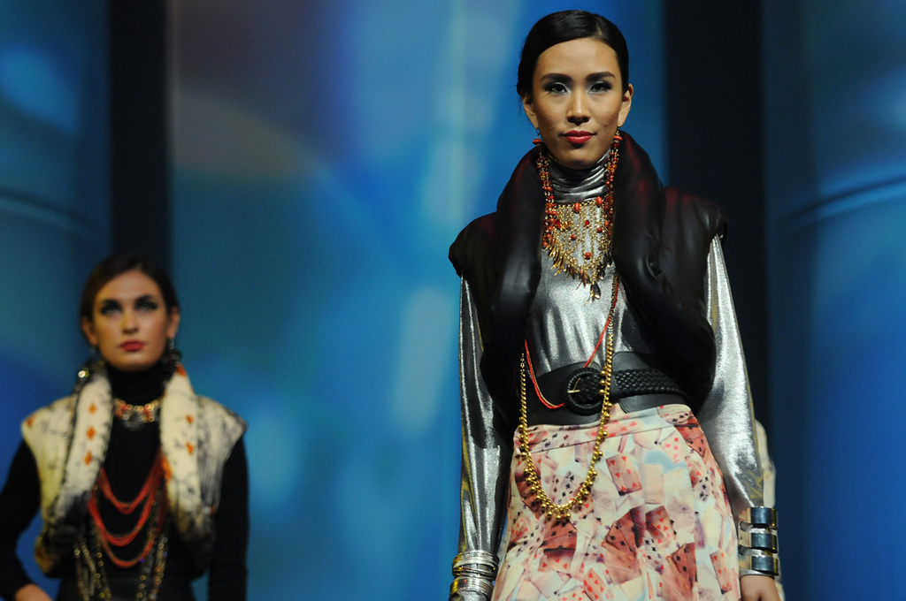 . Models wear attire from Jean Paul Gaultier during the dress rehearsal for the annual Macy\'s Glamorama.  (Pioneer Press: Jean Pieri)