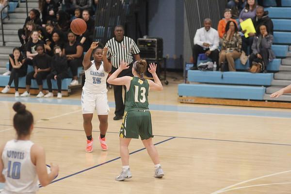 SV Vs. Clarksburg girls basketball  2-15-2019
