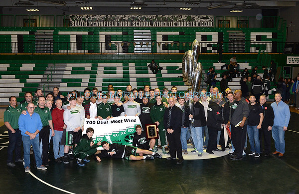 SOUTH PLAINFIELD WRESTLING - TIGERS  vs. EAST BRUNSWICK  BEARS  - 12/21/2016